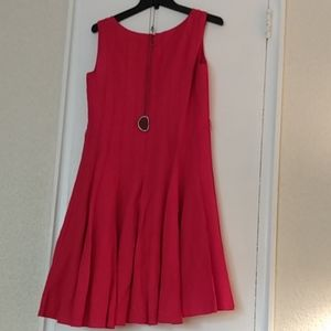 Jessica Howard: linen fit and flair pleated dress
